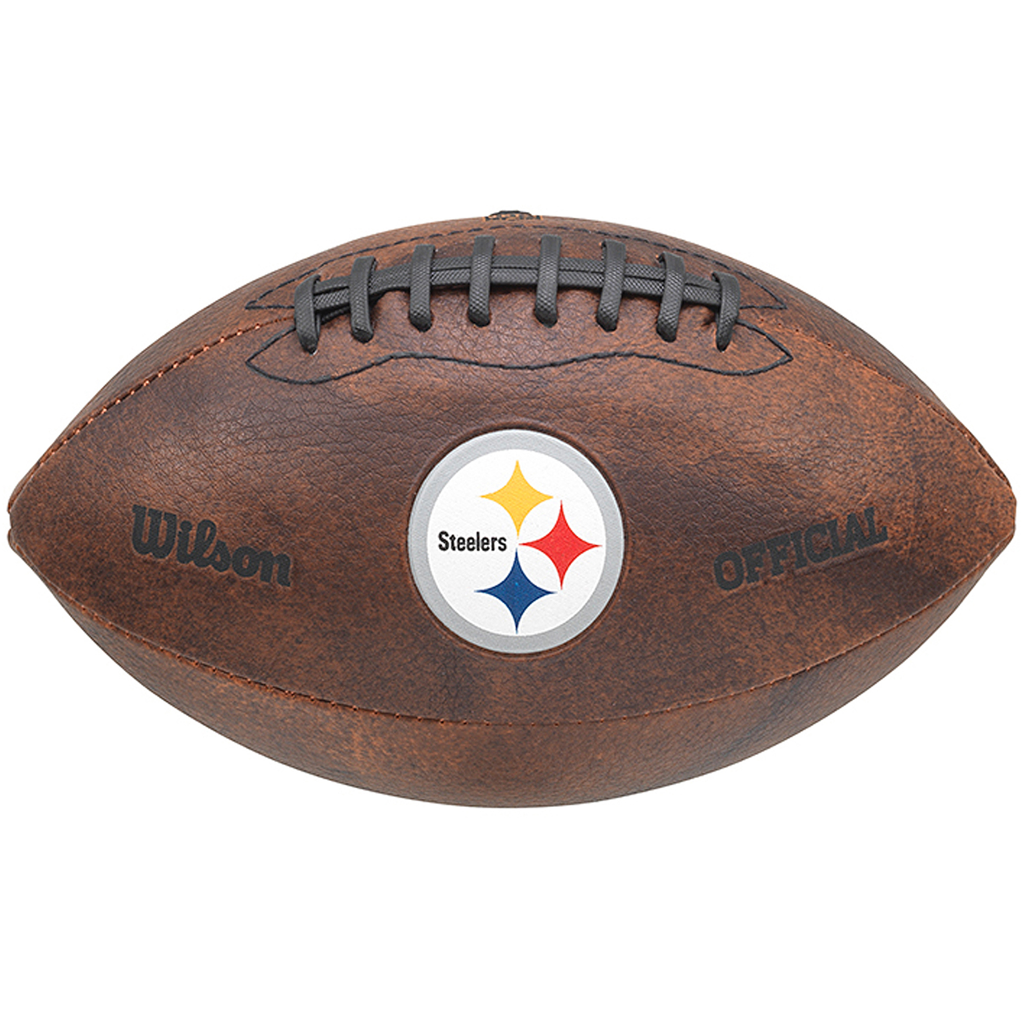 "Wilson NFL 9"" Color Throwback Football, Pittsburgh Steelers"