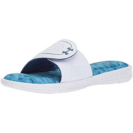 - Under Armour Women's Ignite Viii Edge Slide Sandal, White, Size 12.0