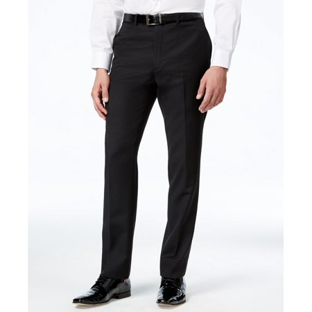 Tommy Hilfiger Black Mens 36X32 Classic-Fit Dress Flat Front Pants $175