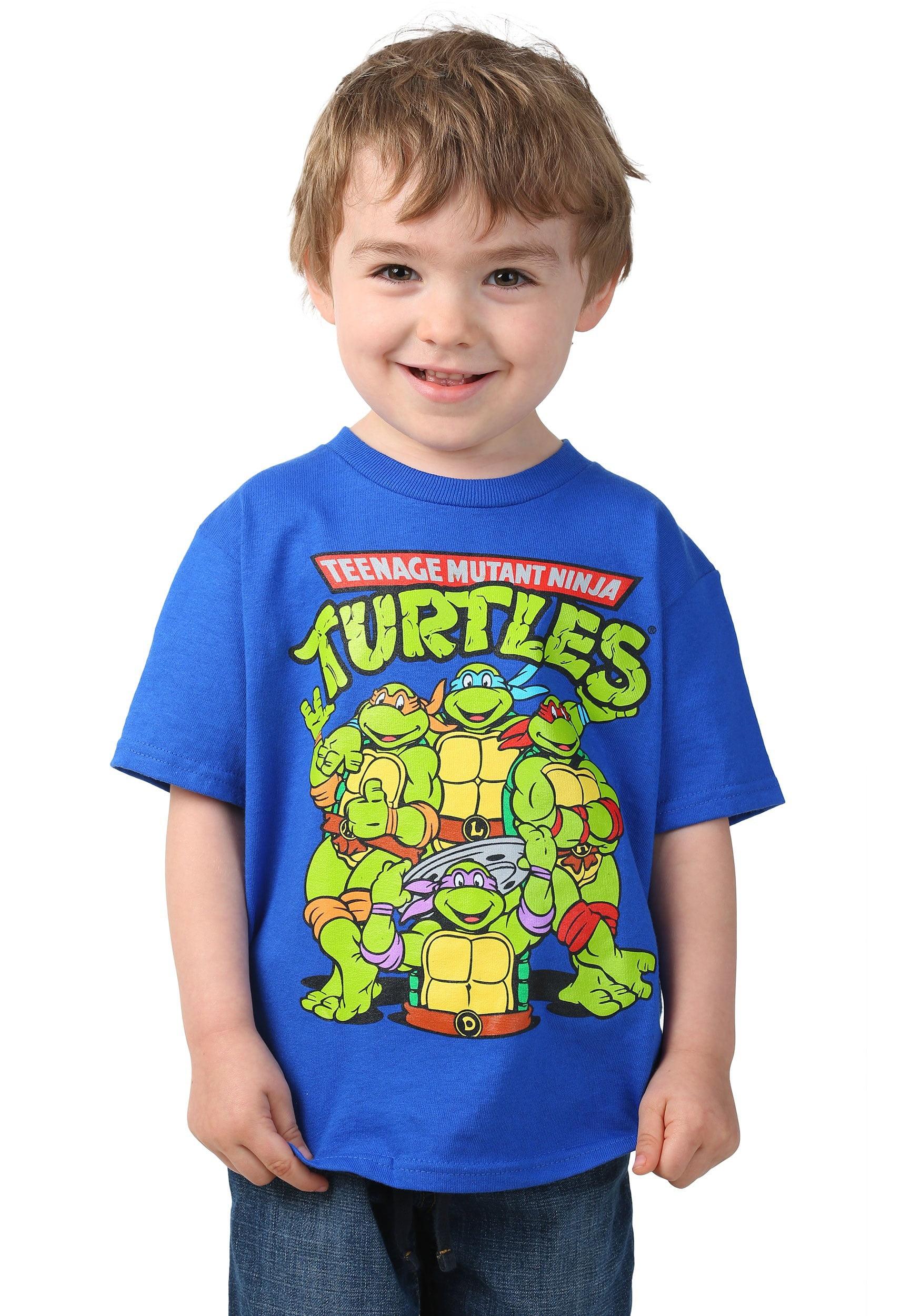 f754ea5f671 Teenage Mutant Ninja Turtles - Teenage Mutant Ninja Turtles Toddler Boys  Classic  Group Shot Logo Short Sleeve Graphic T-Shirt - Walmart.com