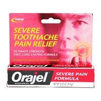 Orajel Formule sévère Toothache Soulagement de la douleur Remède - 0.33 Oz, 3 Pack