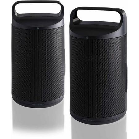 Blackweb RIFT Portable Wireless Bluetooth Speakers, Set of 2
