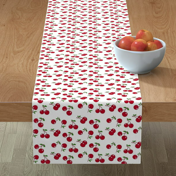 Table Runner Retro Cherry Kitchen Decor