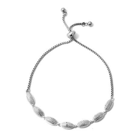 Bolo Bracelet Round Diamond Stainless Steel Gift Jewelry for Women Adjustable Diamond Com Stainless Steel Bracelets