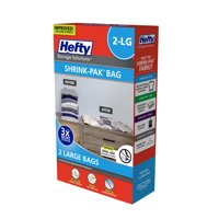 Hefty Shrink-Pak Vacuum Seal Bags, 2 Large Bags