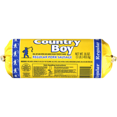 Country Boy Regular Pork Sausage, 16 oz