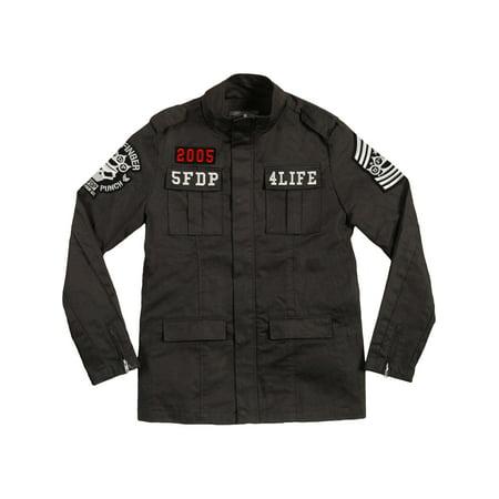 Five Finger Death Punch Men's  Army Jacket Black