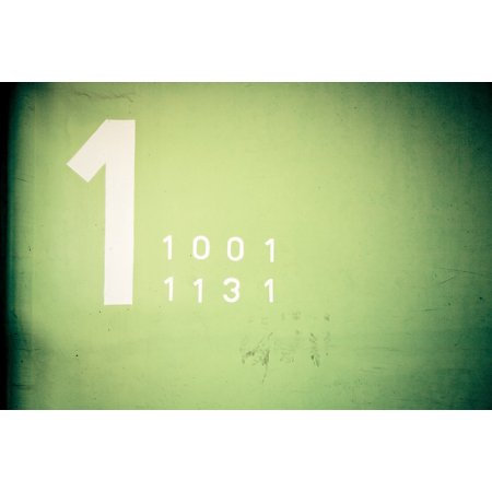 Canvas Print Floor Parking Level One Thousand One Number 1 Stretched Canvas 10 x 14