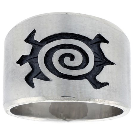 Sterling Silver Native American Design - Sterling Silver Native American Design Turtle Ring, sizes 8-13