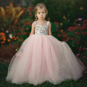 Lookwoild Pageant Flower Girl Dress Kids Wedding Bridesmaid Gown Formal Dresses