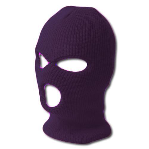 TopHeadwear's 3 Hole Face Ski Mask, Purple by