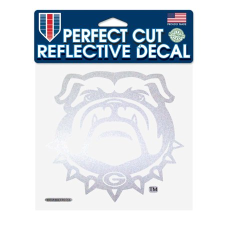 Georgia Bulldogs Official NCAA 6 inch x 6 inch Reflective Die Cut Car Decal by Wincraft