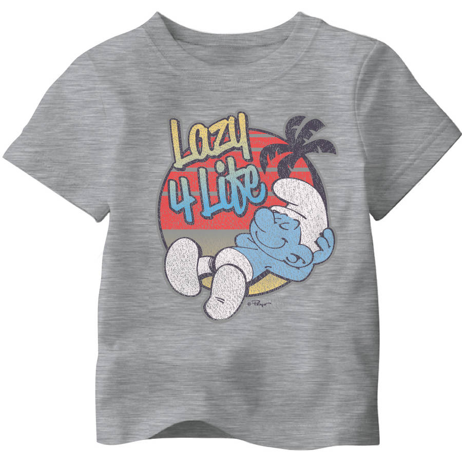 Toddler Boy Smurfs Lazy 4 Life Tee