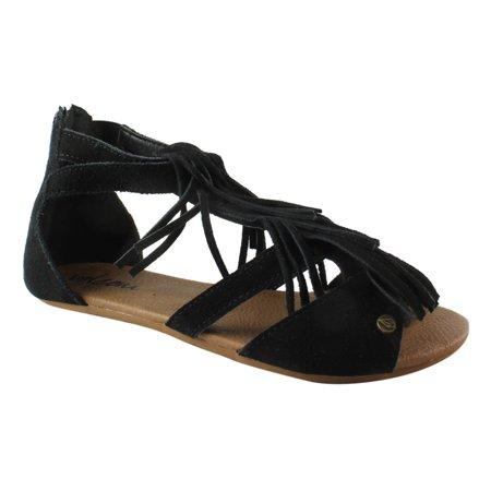 Volcom Womens Backstagesandal Black Gladiator Sandals Size 5