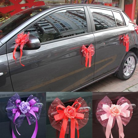 Wedding Car Flower Decoration  Door Handles and Rearview Mirror Decorate Bouquet  Party suppliers DIRESOP](Wedding Car Decoration)