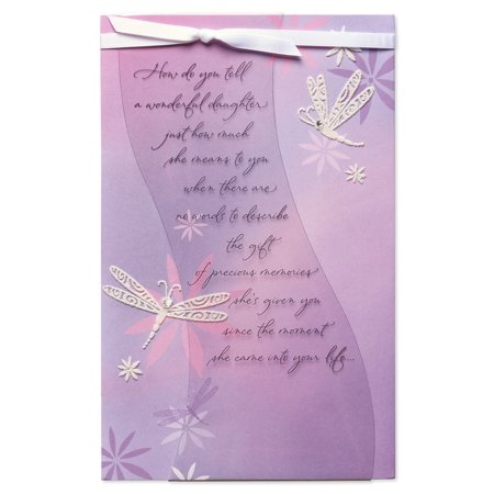 American greeting birthday cards for facebook sfb american greetings dragonflies birthday card for daughter with rhinestone m4hsunfo
