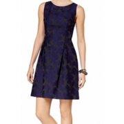 Tommy Hilfiger NEW Blue Womens Size 4 Floral Jacquard Sheath Dress