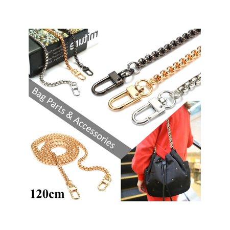 Diy Purse - 47 inch Metal Chain Strap Shoulder Crossbody Bag Handbag Purse DIY Repair Replacement