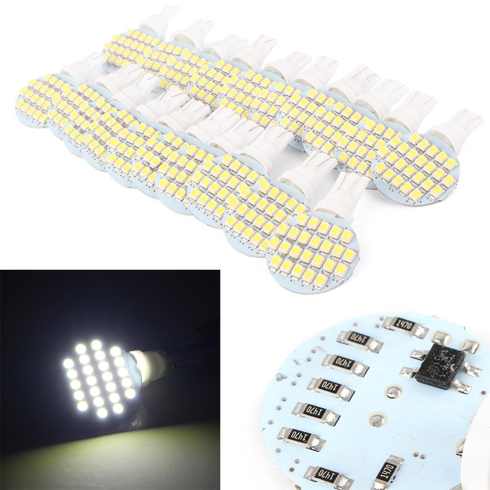 GZYF 20pcs T10/921/194 Super White RV Trailer Landscaping 24SMD Interior 12V LED Light Bulb