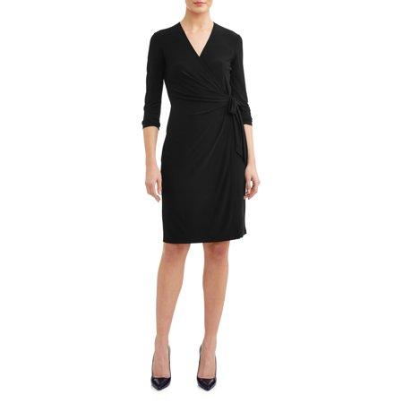 Diane Von Furstenberg Black Wrap Dress (Women's Essential Wrap Dress)
