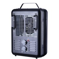 Utility 'Milkhouse' Style Electric Space Heater,1500W,Indoor Use, Black,Model#DQ2016