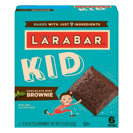 - (3 Pack) Larabar Kid Chocolate Mint Brownie Bars, 5 Count, 5.76 oz