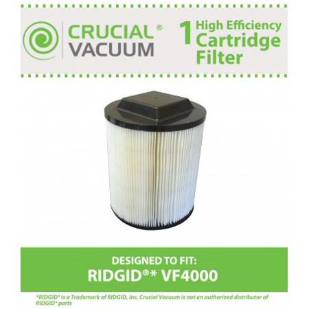 Crucial Vacuum Washable Wet/Dry Filter Fits RIDGID ® VF4000, Compare to Part # 72947
