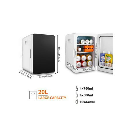 Generic 20L Mini Refrigerator Low Noise Cooler and Warmer Car Household Dual-Use Fridge Onli