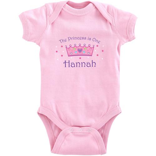 Personalized Birthday Baby Bodysuit, Princess