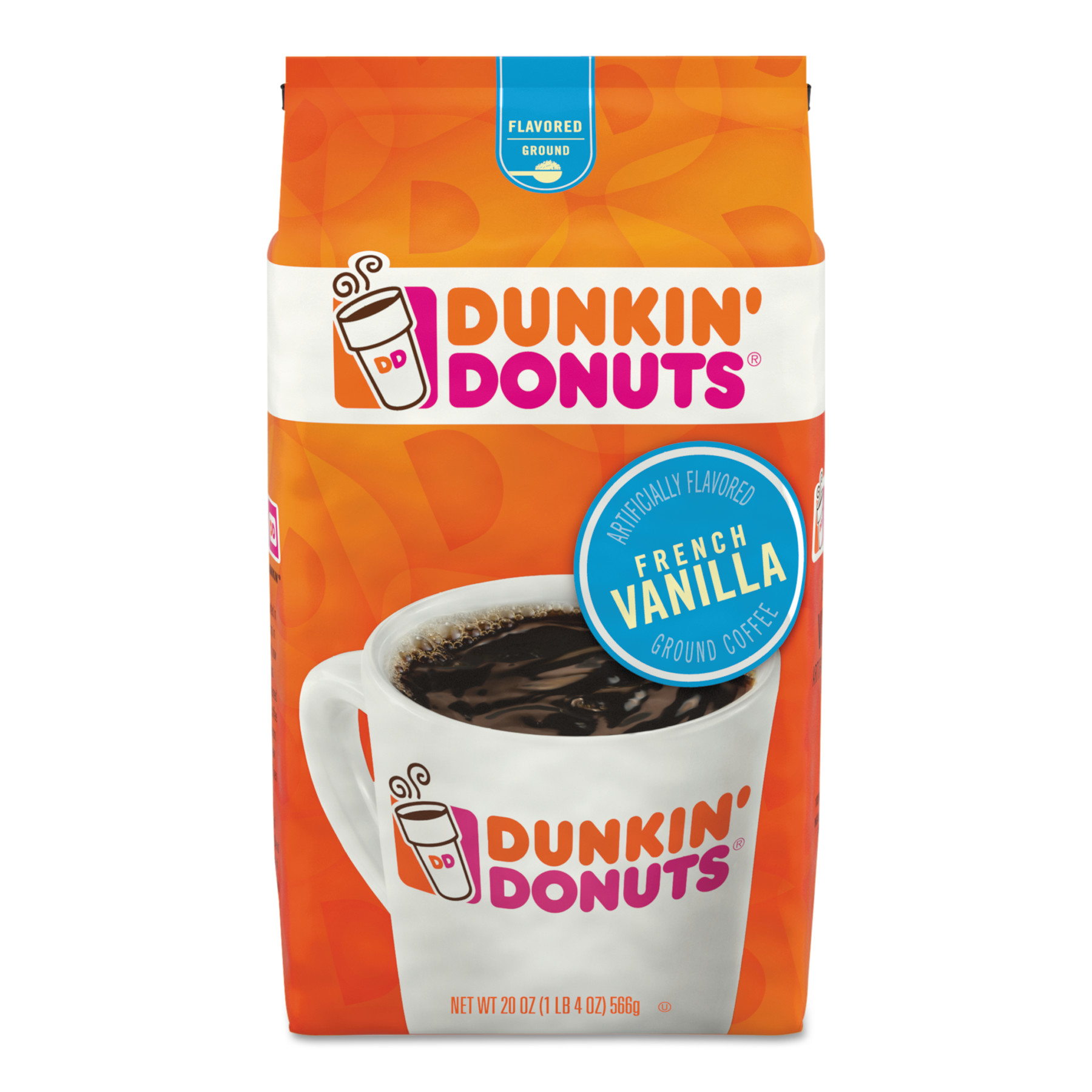 Dunkin Donuts Original Blend Coffee, Dunkin French Vanilla, 20 oz