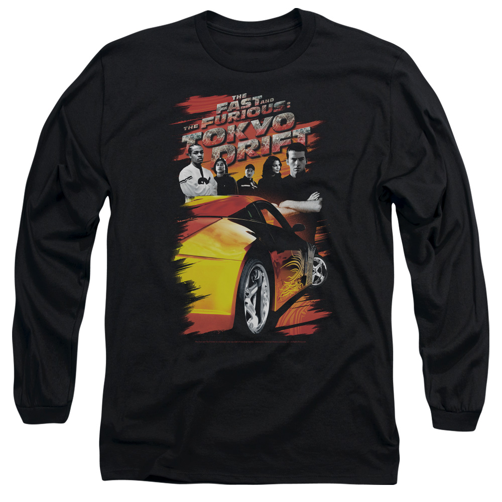 The Fast and the Furious Tokyo Drift Drifting Crew Mens Long Sleeve Shirt