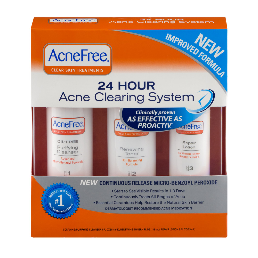 Acne Free Clear Skin Treatments 24 Hour Acne Clearing System - 3 CT