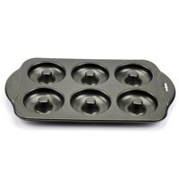 Donut Maker Pan, Nonstick Donut Hole Pan Stainless With 6 Count - Silver
