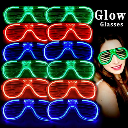 Glow In The Dark Favors (Light Up Glasses Bulk Party Favors Glow in The Dark LED Glasses Party Supplies 12)