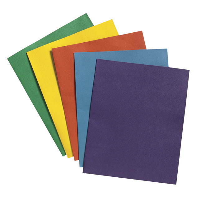 School Smart 2-Pocket Folders, Assorted Colors, Pack of 25