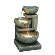 3 BOWL FOUNTAIN WITH 2 WARM WHITE LEDS