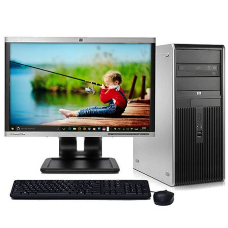 Refurbished Desktop Computers Hp Tower Pc Bundle System Windows 10 Intel 2 13Ghz Processor 4Gb Ram 250Gb Hard Drive With A 19  Lcd Monitor And Wifi