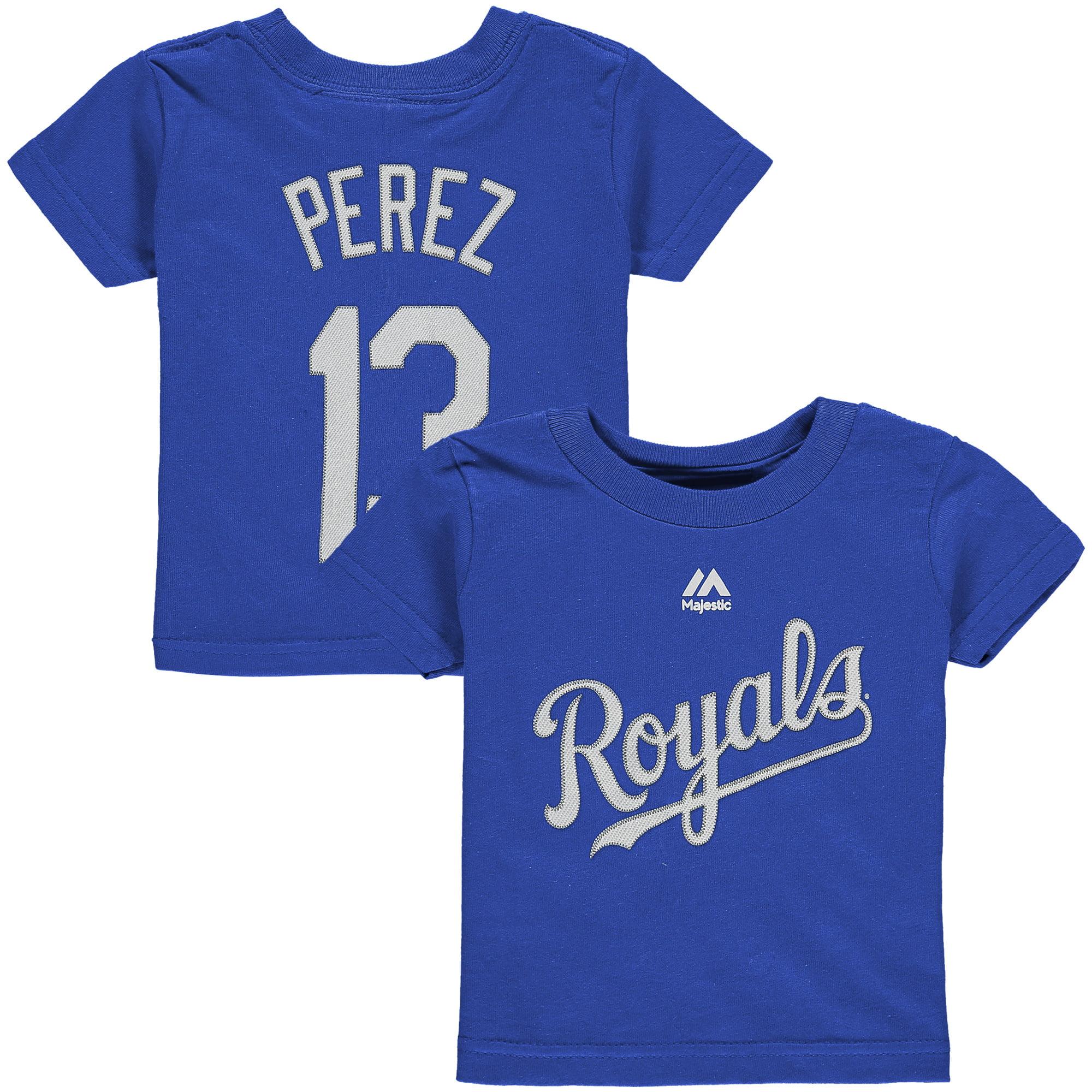 Salvador Perez Kansas City Royals Majestic Infant Player Name and Number T-Shirt - Royal