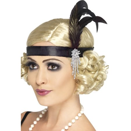 Jeweled Black Flapper Headband](Flapper Headbands)