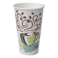 Dixie PerfecTouch (5356DX) 16 oz. Insulated Paper Hot Coffee Cup by GP PRO (Georgia-Pacific), Coffee Haze, 500 Count (25 Cups Per Sleeve, 20 Sleeves Per Case)