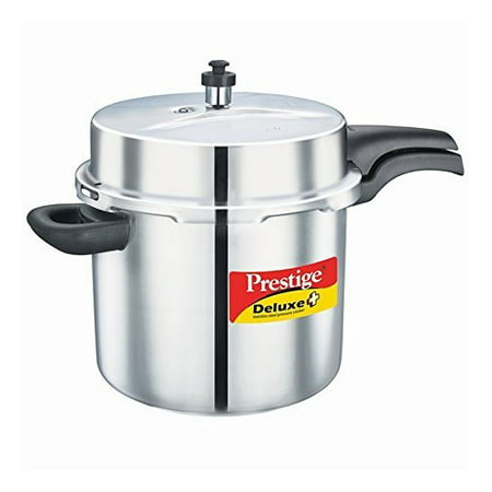 Prestige 10-Liter Deluxe Alpha Induction Base Stainless Steel Pressure Cooker, Small, Silver 10 Liter Small Animal Bedding