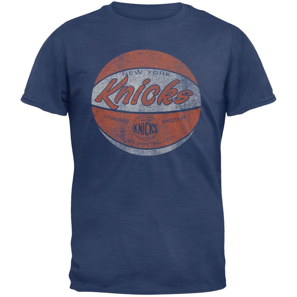 New York Knicks - Logo Scrum Premium Blue T-Shirt - Large