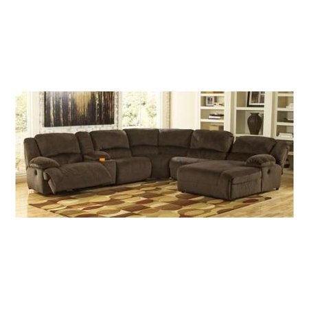 Ashley toletta 56701sec6rpwr 6 piece sectional sofa with for 5 piece sectional sofa with chaise