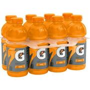 Gatorade Thirst Quencher Sports Drink, Orange, 20 oz Bottles, 8 Count