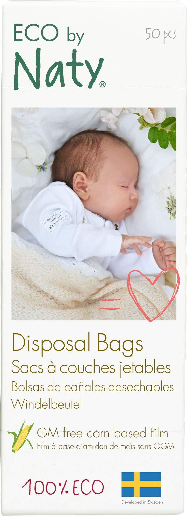 Naty by Nature Babycare Biodegradable Diaper Disposal Bags 750 Count 15 Boxes of 50