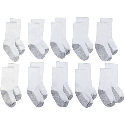Garanimals Newborn Baby Ankle Socks, 10-Pack