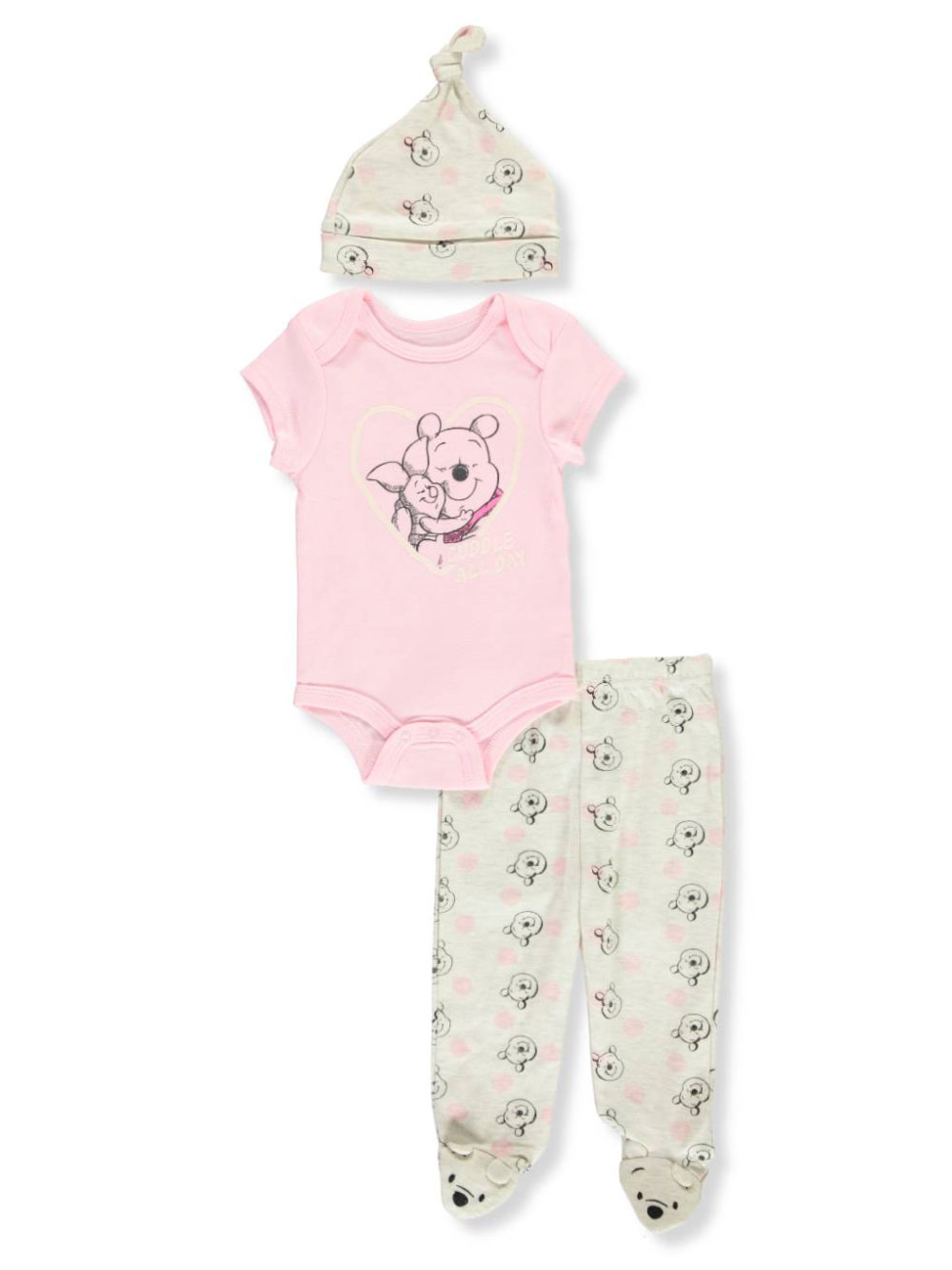 Sweet /& Soft Baby Girls 3 Piece Layette Bodysuit Pant Set