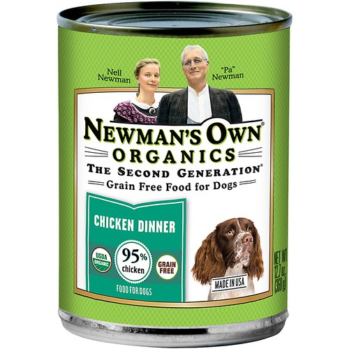 Newman's Own Organics Grain-Free Canned Chicken Dinner for Dogs, 12.7 oz