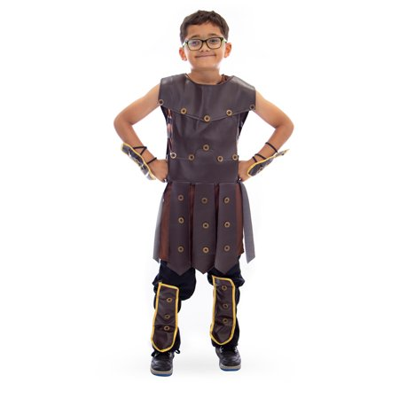 Boo! Inc. Mighty Warrior Boy's Halloween Costume | Roman Gladiatorythic Greek (Children's Greek Costume Ideas)