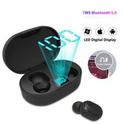Wireless Sport Earbuds, TWS 5.0 Bluetooth Headphones with Mic, In-Ear Wireless Earphones with Charging Case, True Wireless Bluetooth Earbuds with Bass Stereo Sound for iPhone Samsung Android, I0437